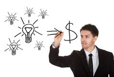 Convert ideas into cash concept Stock Photography