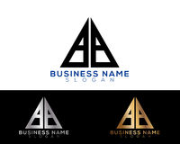 6026-01 [Converted]. Bb Logo Letters with Gold and Black Colors and Swoosh Stock Photo