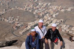 Converti de musulmans de Mualaf prenant le selfie Photos libres de droits