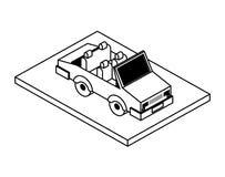 Convertibel auto isometrisch pictogram vector illustratie