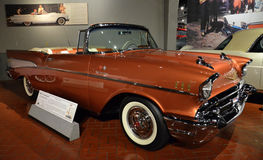 1957 Convertibel Bel Air Chevrolet Stock Afbeeldingen
