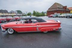convertibele chevroletimpala van 1958 Royalty-vrije Stock Foto's