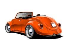 Convertibile classico arancione Fotografia Stock