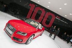 Convertibile di Audi S5 - salone dell'automobile 2009 di Ginevra Fotografia Stock Libera da Diritti