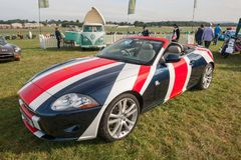 Convertibile di Jaguar XK Fotografia Stock