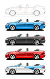 Convertible. Part of my collections of Car body style. Simple gradients only - no gradient mesh stock illustration