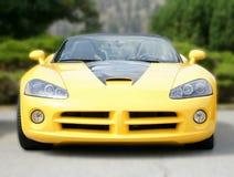 Convertible amarillo del coche del músculo Imagenes de archivo