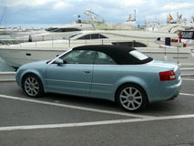 Convertible Audi in Puerto Banus, Spain Royalty Free Stock Image