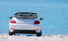 Convertible automobile car at the beach Royalty Free Stock Photo