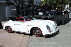 Convertible blanco de Porsche del vintage fotografía de archivo