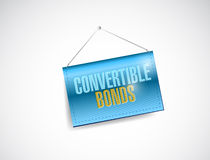 Convertible bonds hanging banner. Illustration design over a white background Royalty Free Stock Images