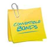 Convertible bonds memo post Stock Image