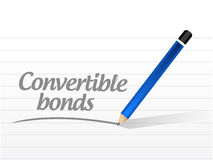 Convertible bonds message illustration. Design over a white background Stock Photo
