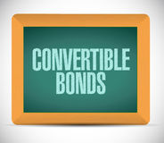 Convertible bonds sign message Stock Photos
