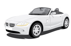 Convertible Car. Vector convertible car without gradients stock illustration