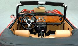 Convertible car interior Royalty Free Stock Photo