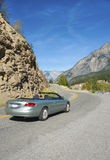 Convertible car on Sea to Sky Highway. Sporty vehicle on Highway 99, also known as the Sea to Sky Highway on route to Lillooet, British Columbia, Canada Royalty Free Stock Photography