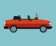 Convertible car sport vehicle Royalty Free Stock Image