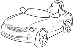 Convertible coloring page Stock Photos