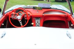 Convertible Corvette interior Stock Image