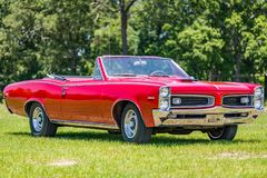 Convertible 1966 da tempestade de Pontiac Foto de Stock