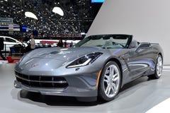 Convertible de Corvette C7 à Genève Motorshow Photo stock