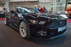Convertible de Ford Mustang EcoBoost de voiture de poney (sixième génération), 2015 Images stock