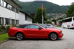 Convertible de Ford Mustang GT de cabriolet Images libres de droits