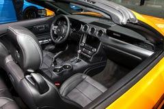 Convertible 2018 de la meilleure qualité de Ford Mustang Ecoboost Photos libres de droits