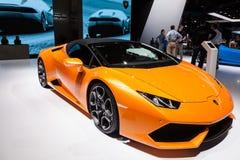 Convertible de Lamborghini Aventador no IAA 2015 Foto de Stock