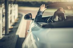 Convertible Drive in Style royalty free stock photo
