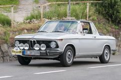 Convertible 2002 du sud du Tyrol Rallye 2016_BMW Targa Photo libre de droits