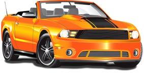 Convertible orange illustration de vecteur