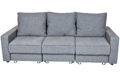 Convertible sofa bed with color grey Royalty Free Stock Photography