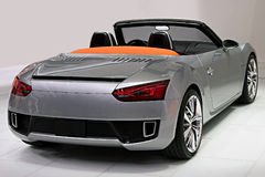 Convertible Sports Car. Image of a convertible sports car taken from the rear Stock Photos
