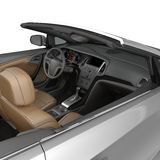Convertible sports car interior isolated on a white background. 3D illustration Stock Photo