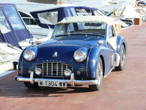 Convertible Triumpfh TR3 in Puerto Banus Royalty Free Stock Images