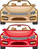 Convertible vehicle front vector Royalty Free Stock Photography
