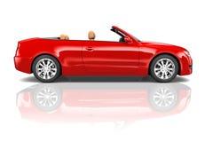 Convertible vermelho do sedan foto de stock