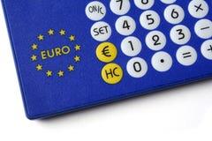 Convertidor de eurodivisas Fotos de archivo libres de regalías