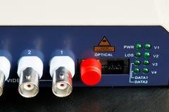 Convertidor video óptico de fibra Fotografía de archivo libre de regalías