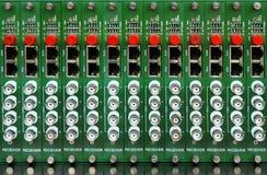 Convertidor video óptico de fibra Fotografía de archivo