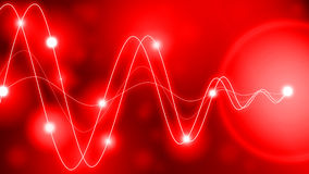 Converting energy waves red Royalty Free Stock Image