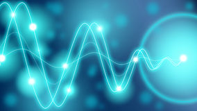 Converting energy waves turquoise Royalty Free Stock Photography