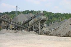 Converyors de la construcción de la mina Imágenes de archivo libres de regalías