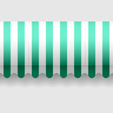 Convex awning. Seamless vector illustration of a convex awning Stock Images