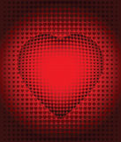 Convex background. Hearts in the form of abstract background with halftone effect vector illustration
