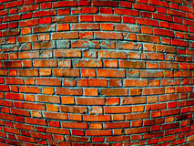 Convex brick wall Royalty Free Stock Photo