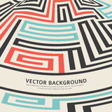 Convex curved labyrinth image retro poster Stock Photos