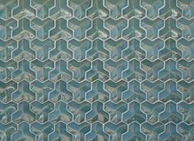 Convex green tiles of regular geometric shape with curved facets as background or backdrop.  royalty free stock photo